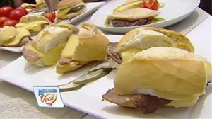 """Edu Guedes e convidado dão dicas para fazer """"sanduíche perfeito"""""""