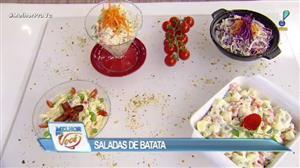 Edu Guedes ensina como preparar saladas de batata