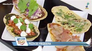 Edu Guedes e convidado preparam pizzas de frigideira