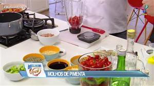 Edu Guedes e convidado ensinam a fazer molhos de pimenta variados