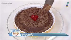 Edu Guedes e convidada ensinam receita de brigadeirão