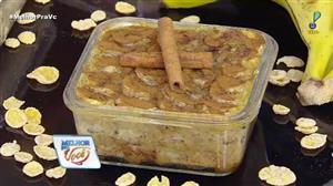 Edu Guedes ensina receita de torta de banana em versão diet