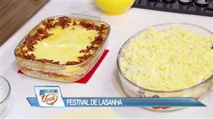 Edu Guedes faz festival da lasanha e dá dicas para o preparo