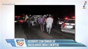 Acidente com ônibus de sacoleiros deixa 5 mortos em SP