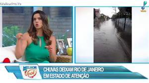 Chuvas deixam Rio de Janeiro em estado de atenção