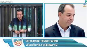 Sérgio Cabral vira réu pela vigésima vez
