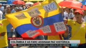 Governo e Farc chegam a acordo hist�rico na Col�mbia