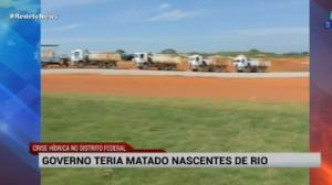 """Governo do DF é acusado de """"matar"""" nascente de rio"""