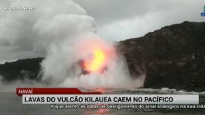 Lavas de vulcão caem no Pacífico e impressionam pela beleza