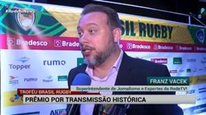 RedeTV! ganha prêmio por primeira transmissão de Rugby na TV aberta