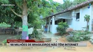 Mais de 98 milhões de brasileiros não têm acesso à internet