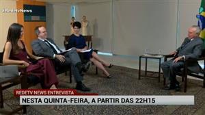 Michel Temer é o convidado especial do RedeTV News Entrevista