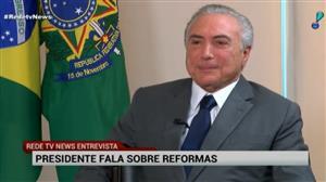 """""""Cunha se equivocou mentirosamente"""", diz Temer em entrevista para a RedeTV!"""