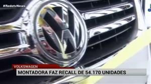Volkswagen faz recall de 54 mil veículos