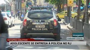 Suspeito de participar de estupro coletivo se entrega no Rio