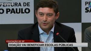 Doação de R$ 300 milhões vai beneficiar escolas públicas de SP