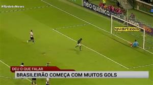 Brasileirão começa com muitos gols na rodada de abertura