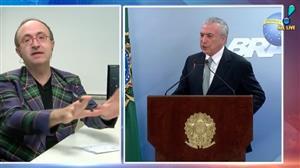 """Reinaldo Azevedo: """"Não creio na queda de Temer pela via do Congresso e STF"""""""