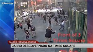 Assista ao vídeo impressionante do carro que invadiu a Times Square