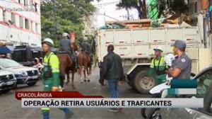 Polícia faz a maior apreensão de drogas na Cracolândia após operação