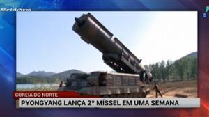 Coreia do Norte lança 2º míssil em uma semana