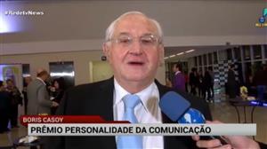 Boris Casoy recebe Prêmio Personalidade da Comunicação