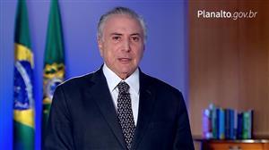 """""""Brasil não parou e não vai parar"""",  diz Michel Temer"""