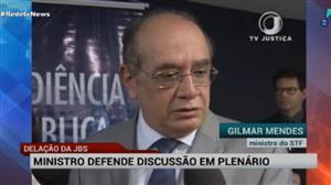 Mendes defende que delação da JBS seja discutida no STF