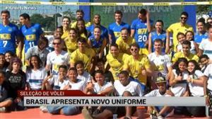 Seleção de vôlei apresenta novo uniforme