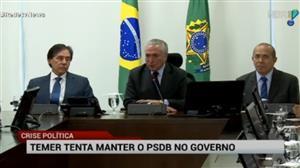 Temer recebe ministros do PSDB para almoço em meio a crise