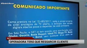 Cliente da NET que ficou sem canais da Simba ganha direito a reembolso