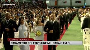Casamento coletivo une mil casais em Belo Horizonte