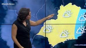 Chuva predomina em parte da região Sudeste