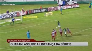 Com dois de Fumagalli, Guarani assume ponta da Série B do Brasileirão