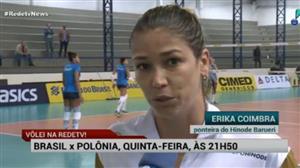 RedeTV! transmite Brasil x Polônia no vôlei feminino na 5ª feira, às 21h40