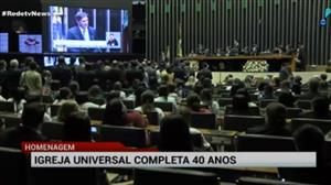 Sessão do Congresso homenageia Igreja Universal, que completa 40 anos