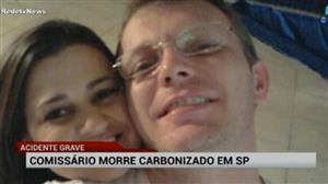 Comissário de bordo morre após ter carro carbonizado em SP