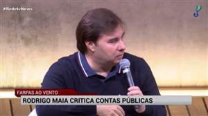 """Rodrigo Maia critica """"distritão"""" e aumento no rombo das contas públicas"""