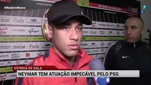 Neymar tem ótima estreia pelo PSG