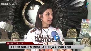 Helena Soares mostra força ao volante para disputar o Rally dos Sertões