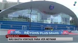 """Estreia de Neymar em Paris tem ingresso com preço """"salgado"""""""
