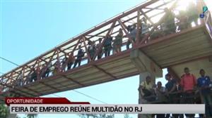 Feira de emprego reúne multidão no Rio de Janeiro