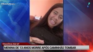 Menina de 13 anos morre após caminhão tombar em SP