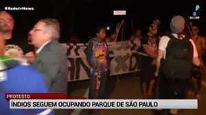 Grupo de índios ocupa parque em SP em protesto contra política de Temer