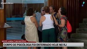 Enterrado corpo de psicóloga encontrada morta em apartamento no Rio