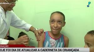 Mais de 36 mil postos vacinam crianças e jovens neste sábado