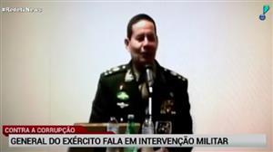 General disse que intervenção militar poderia solucionar crise no Brasil