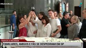 Familiares e colegas se despedem de Marcelo Rezende