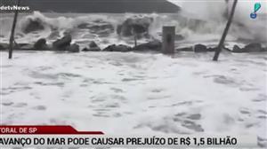Avanço da maré em Santos pode causar prejuízo bilionário