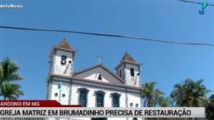 """Igreja de 300 anos em MG """"grita"""" por restauração"""